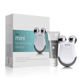 massagem facial ferramentas Desconto Nucace Mini Facial Massager Cuidados Com A Pele microcurrent Ferramentas para As Mulheres Casa Firmness Pele facial toning device Caixa Selada Branco ROSA