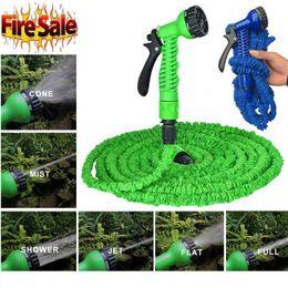 Tubi di tubo magici online-Irrigazione Garden Hose Autolavaggio Stretching Magic Espandibile Forniture da giardino Tubi flessibili per acqua Strumenti per pulizia auto 15M EEA120