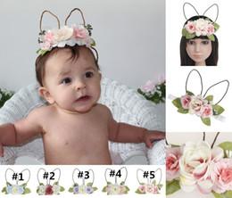 regali fatti a mano di pasqua Sconti Accessori per capelli di Pasqua del bambino 100% handmade ragazze dell'orecchio di coniglio della fascia Babyborn Bunny fasce per capelli Regali di Pasqua WXA010