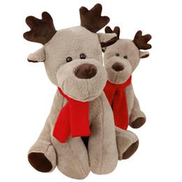 2019 personalizzare bambole 28cm di Natale Moose bambola di pezza Giocattoli sveglia molle di Natale della bambola della peluche di attività regali personalizzati per le ragazze L354 personalizzare bambole economici