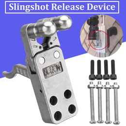 estilingue de aço Desconto Dispositivo de liberação de estilingue de aço inoxidável polimento catapulta diy rifle gatilho