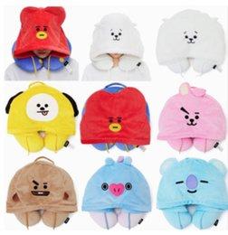 U шляпы онлайн-Бесплатная доставка новый стиль BTS bt21 U стиль подушка Подушка с шляпой