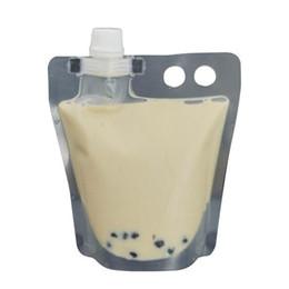 2019 botellas de agua directas deportivas Bolsa de empaquetado del canalón de la bebida plástica de pie de la burbuja para el café líquido de la leche del jugo de la bebida