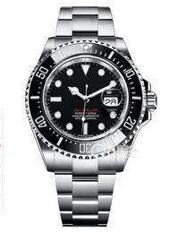 2019 черные кожаные наручные часы Роскошные наручные часы высшего качества 2019 Новый RED SEA-DWELLER 43 мм 126600 Мужские наручные часы с автоматическим подметанием Механическая керамическая рамка с оригинальной застежкой