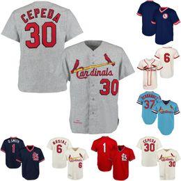 keith hernandez jersey Rabatt Mens St. Louis 1 Ozzie Smith 1963 Stan Musial 1967 Orlando Cepeda 1979 Keith Hernandez Retro-Baseball-Shirts Freies Verschiffen