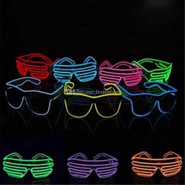 2019 el wire néon bleu Bleu el lunettes El Fil De Mode Néon LED Lumière Obturateur En Forme De Glow Rave Costume Party DJ Lumineux Lunettes En Gros bb153-160 2018011003 promotion el wire néon bleu