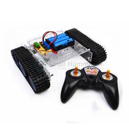 Kit remoto rc on-line-Jogo de controle remoto do jogo do tanque do jogo do tanque de 2.4G RC blocos de apartamentos eletrônicos de DIY