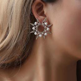 925 Argent Massif Tournesol Cubique Zircone Clous D/'Oreilles Pour Femmes Fille Fashion Jewelry