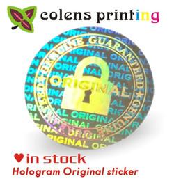 Argentina Pegatinas de holograma personalizadas / Anulación de la garantía Si se elimina la seguridad Impresión de etiquetas holográficas con láser de plata original 2 * 2 cm 2000pcs / bag Q190529 Suministro
