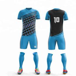 c5f6f7d4b custom Men Kids Soccer Jerseys Set Football kit Training Suits Uniform blank  futbol socks soccer jersey uniform