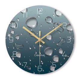 2019 design do relógio aquático Gotas de água 3D criativas Relógio de parede Design moderno Sala de estar Decoração Vidro Relógios de parede únicos relógios Decoração de casa silencioso