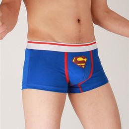 desenhos animados boxer shorts Desconto Azul VERMELHO Dos Desenhos Animados Superman Boxers Underwear Calções de Cintura Baixa Homens Boxer Algodão Calzoncillos Moda Cuecas Shorts Homens de Saúde