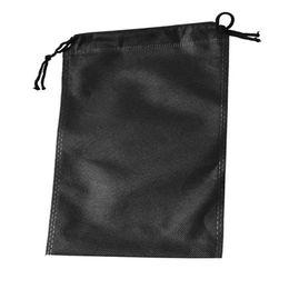 Bolsas de viaje verdes online-Múltiples colores Organizador de viaje con cuerda cuadrada no tejida Bolsas con cordón Zapatos de seguridad Bolsa de almacenamiento de ropa verde 0 9ss5 B