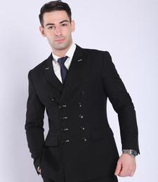 Canada Nouveau costume d'affaires professionnel hommes bleu foncé à double boutonnage costume costume pour hommes Offre