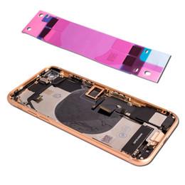 Pour iPhone 8 avec cadre central, couvercle de batterie arrière, assemblage de la porte arrière Installer le câble Flex original Vibrateur Vis de haut-parleur éponge ? partir de fabricateur
