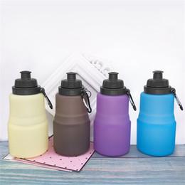 Bollitore d'acqua di alluminio online-Outdoor Fold Water Bottle Motion Bollitore gel di silice Mug Motion Hydration Gear Lega di alluminio portatile gancio resistente al calore 15xzC1