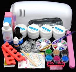 kit de decoración de arte de uñas Rebajas Nail Art Pro Kit de manicura UV Gel Set de manicura Nail Art Kit 9W Secador de uñas Gel Limpiador Plus Brillo Decoración Kit de herramientas