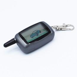 2019 systèmes de clé de sécurité A9 LCD Télécommande Key Fob Keychain pour la sécurité du véhicule russe Système d'alarme de voiture à double sens Twage StarLine A9 promotion systèmes de clé de sécurité