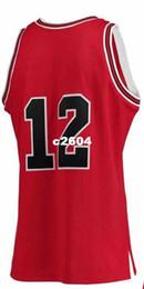 Mitchell Ness # 12 FEBRUAR 14.1990 MICHAEL rot weiß Mesh echte Stickerei Bsaketball Jersey Größe S-4XL oder benutzerdefinierten Namen oder Nummer Trikot von Fabrikanten