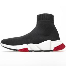 Роскошные носки Обувь Speed Trainer Кроссовки Race Runners Тройной Черный Белый Красный Мужчины Женщины Спортивные Кроссовки Размер 36-45 от