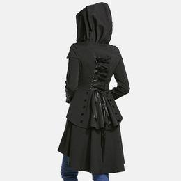 Frauen Windjacke mit Kapuze lang einreihig großen Swingmantel weiblich Slim Persönlichkeit Mantel weiblich von Fabrikanten