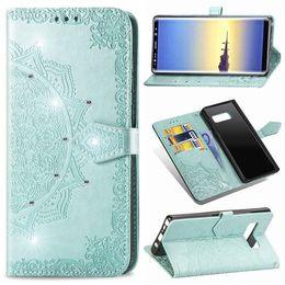 samsung core prime j7 Rebajas Diamond Mandala flor billetera funda para Samsung Galaxy NOTE8 NOTE9 J3 J7 J8 Plus 2018 J4 Core J5 J7 2017 Prime J7 DUO J120 J510 J710 Skin
