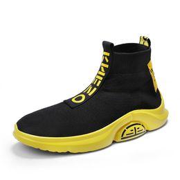 Zapatillas de malla de colores online-Los zapatos corrientes de las zapatillas de deporte para los hombres calcetín colorido zapatos atléticos del verano de los hombres respirables jogging formadores de malla Chaussure Homme Sport