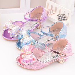 7b60533a816e Girls Sandals 2019 New Fashion Fish Mouth Colorful Bright-heeled Princess Sandals  Dance Shoes 5-13 years Old Summer high Heel Princess shoes