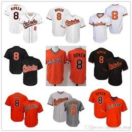 67d4f5480b5 Orioles 8 Cal Ripken Baltimore 13 Manny Machado 12 Roberto Alomar 10 Adam  Jones Men Baseball Jersey 2019 new cal ripken jersey deals