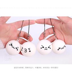 hombre cuello cadena nuevo diseño Rebajas Kawaii Suaves bollos cocidos al vapor Squishy Lindos encantos del teléfono celular Llaves de corazon MULTI Expresión encantos del teléfono celular para llavero bolsa