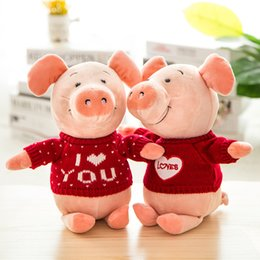 doces de valentim Desconto 30 cm Alemanha NICI Porco Boneca WIBBLY porco Em Vermelho Amor Camisola Brinquedos de Pelúcia Encantador do Dia Dos Namorados Presentes de Casamento Doce Decorações