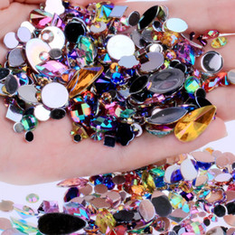 Misto 300 pz Crystal Clear AB Nail Art Strass FAI DA TE Non Hotfix Flatback Acrilico Pietre per unghie Gemme Per 3D Nails Art Decorazioni da pietre per la decorazione delle unghie fornitori
