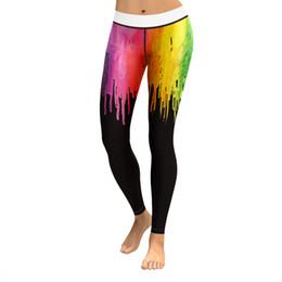 Calças de ioga coloridas on-line-Leggings Yoga Pants de Sexy Mulheres de Fitness Sports Gym exercício de corrida mulheres que movimentam colorido Calças Mar27