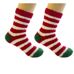 2019 calcetines de cachemir para niñas 1 Par Lindo Invierno Cálido de Navidad de Las Mujeres Calcetines regalos de los niños calcetines de caramelo Chica Linda Mujer Coral Cashmere Navidad calcetines de cachemir para niñas baratos