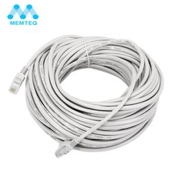 cable leads Promo Codes - MEQ Ethernet Cable 100FT 30m Cat 5e Ethernet Cable RJ45 Cat5e Network LAN Internet Patch Lead White for PC Router Laptop