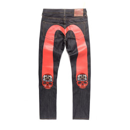 25244694d0 Pantalones vaqueros para hombre pantalones de chándal joggers pista para  correr pantalones para hombre pantalones deportivos Imprimir Red Big M Tide  Jeans ...