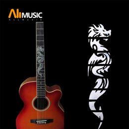 Embutido guitarra fretboard on-line-Guitarra do embutimento autocolantes Dragão Guitarra Fretboard decalques / marcadores de fricção da guitarra Neck MU1288-9