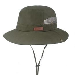 table acrylique orange Promotion Chapeau de pêche et chapeau en maille pour hommes / femmes Safari avec protection contre le soleil unisexe