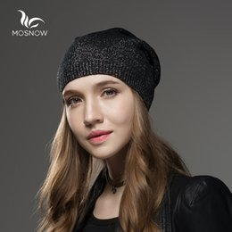 079573598 Mosnow Hat Female Wool Cashmere Winter Hats For Women Beanies High Quality  Warm Women's Brand Casual Knitted Vogue Skullies Cap S18120302
