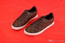 Scarpe donna in pelle pitone online-2019 nuovi mens Designer fashion luxury brand scarpe casual Sneakers in pelle di pitone scamosciato in pelle per uomo donna