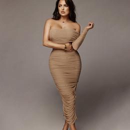 JessicaCHE 2019 Сексуальное женское платье с вырезом на плече и разрезом на плече Коктейльная вечеринка Вечернее эластичное платье из вискозы Bodycon с длинными рукавами миди от