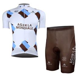 2019 New Men AG2R Team Cycling Jersey Imposta maniche corte traspirante mtb bike shirt 3D Gel Pad bib shorts Mountain abbigliamento Bicicletta 0501 da
