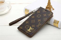 Pour iPhone X XR XS MAX Marques De Luxe Or Portefeuille Étui À Carte En Cuir Flip Pour Iphone 8 7 6 6 s Plus S10 e S9 S8 plus Note 9 Note8 Lanyard Cover ? partir de fabricateur