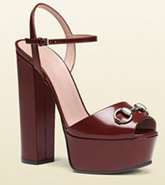 plateforme sandales chunky à talons hauts Promotion 2018 nouvelle mode chic dames chaussures haute qualité faminine chaussures peep toes chaussures femme plateforme chunky talons sandales sapatos melissa shippi gratuit