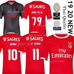 jersey de futebol jones Desconto Tailandeses 2019 SL Benfica Futebol JOÃO FÉLIX Football Shirt GRIMALDO RUBEN DIAS 19 20 PIZZI RAFA JONES Fardas Seferovic Men + crianças