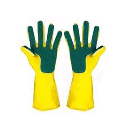 guantes para jardineria Rebajas 10 Par / lote Hogar Creativo Lavado Limpieza Guantes Jardín Cocina Plato Esponja Dedos Guantes de goma de limpieza del hogar para lavar platos