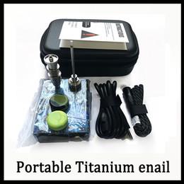 Portable Titanium enail Elettrico limanda chiodo PID Termoregolatore E Chiodo Kit di anidride carbonica vaporizzatore 16 MM 20 MM olio rig dabber scatola di vetro bong da chiodo dab e titanio fornitori