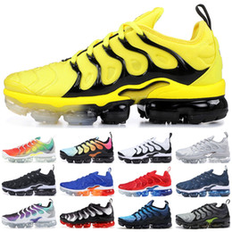 27f53a5a34 scarpe tn Sconti Nike Vapormax Tn Plus Bumblebee TN Plus Designer Sneakers  Uomo Donna New Rainbow
