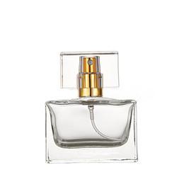 Vaporisateur carré rechargeable en Ligne-Bouteille vide rechargeable en verre 30 ml pour bouteille de parfum vide en verre chaud du marché 30ml