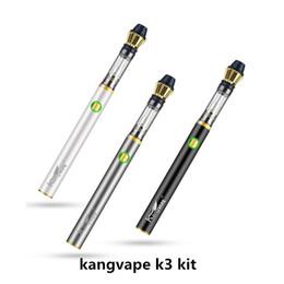 batteria della penna a vape variabile della vape Sconti Kangvape K3 Starter Kit 350mAh Preriscaldare batteria Vape penna a tensione variabile per olio denso Vaporizzatore Carriole 100% originale